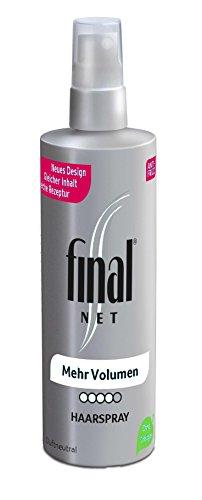 Final Net Haarspray Mehr Volumen - Dauerhaft Starker Halt - Duftneutral, 1er Pack (1 x 125ml)