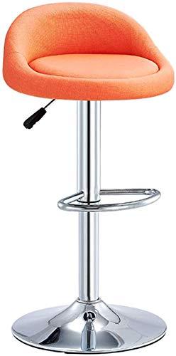 LYYF Taburete Decorativo Ajustable taburetes, Acabado de Tela Acabado bajo Desayuno Taburete Home Kitchen Balcony Sillón de salón Adecuado para Sala de Estar y Dormitorio 2121
