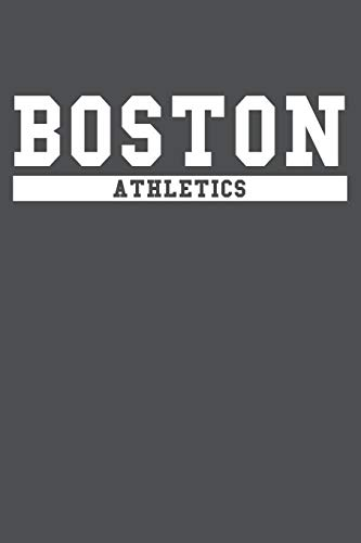 Boston Athletics: American Campus Sport Lined Journal Notebook