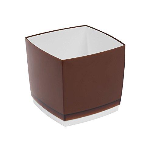 Pot de fleur, cache pot Designo Cube, hauteur 15,5 cm, en bronze
