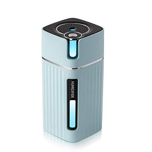 YNHNI Humidificador de Aire portátil 300ML Ventaja del Coche del USB del Aroma del Aceite Esencial del difusor del Color LED de la lámpara Humidificador, (Color : Pink and 5 Filters)