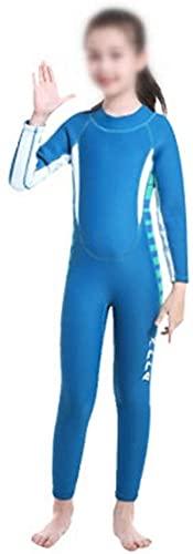 Traje de neopreno Moda Traje de buceo infantil traje de baño para niños de manga larga siamesa -calos gruesos con protección solar con traje de hidromasaje para niños térmico