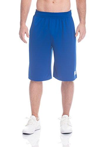 Above the rim Men's Mesh Basketball Shorts - Workout & Gym Shorts for Men - Ballers - Royal Blue, 1X