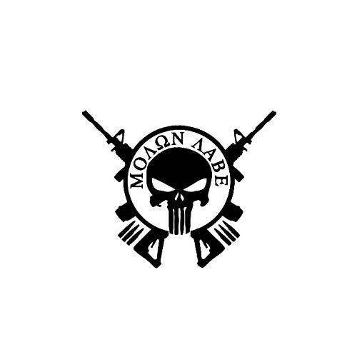 Divertidas pegatinas de coche Pegatina 15,2 cm * 12,3 cm Punisher Skull Cross Fun Car Sticker nofsd (Color : Black)