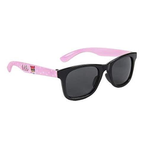 L.O.L. Surprise ! Occhiali Da Sole Per Bambina 100% di protezione UV | Accessori Confortevoli E Molto Resistenti | Regali Per Ragazze Occhi Di Gatto In Rosa Nero (UV400) (Nero Rosa Rettangolari)