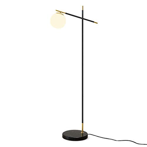 YQGOO Lámpara de pie Lámpara de pie nórdica Moderna Sala de Estar Dormitorio Bola Luz de Suelo Pantalla de Cristal Lámpara Vertical Estudio Creativo FL
