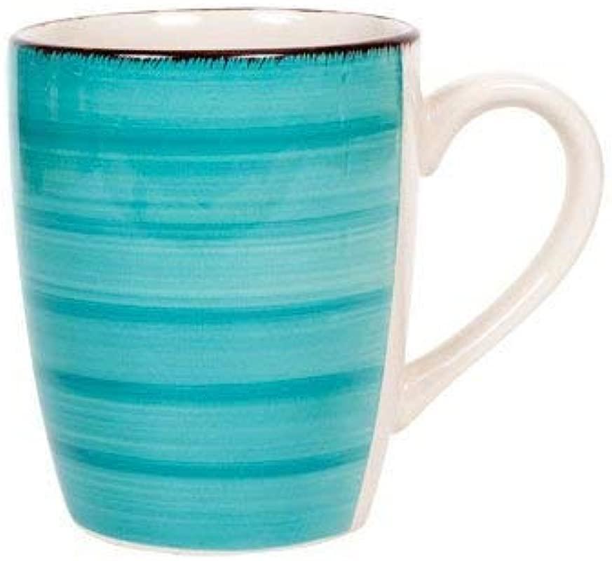Royal Norfolk Turquoise Swirl Stoneware Mug