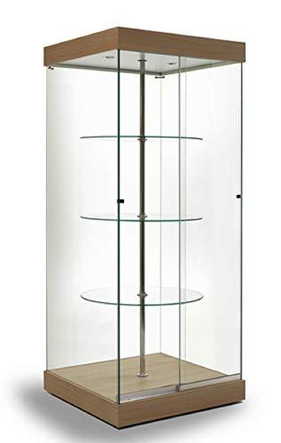 Vitrina en Cristal G-Q, coleccionismo, gabinetes, Vitrina giratoria, expositora