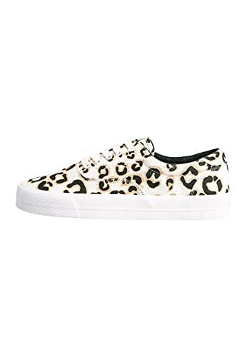 Superdry Damen Klassische Sneaker zum Schnüren Leopardenmuster 36