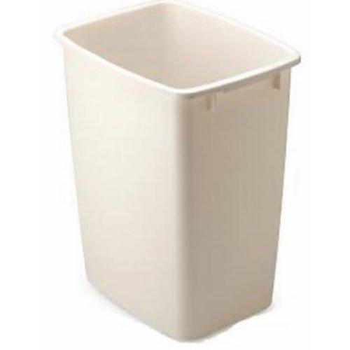 Rubbermaid Small Kitchen Bathroom Trash Can, Under Sink Waste Basket, Plastic Beige 9 Gallons