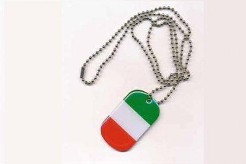 Erkennungsmarke DOG TAG Italien Fahne Flagge Kette