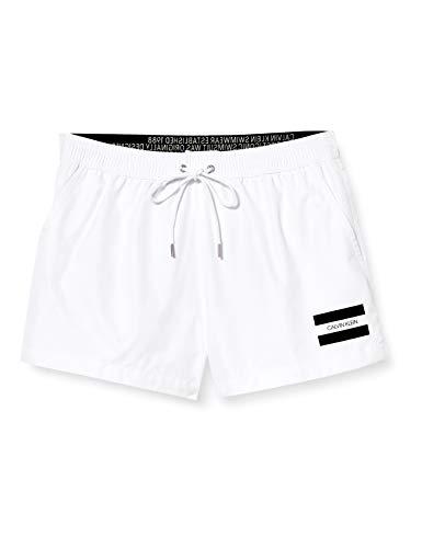 Calvin Klein Herren Short Drawstring Badehose, Weiß (PVH Classic White YCD), X-Large