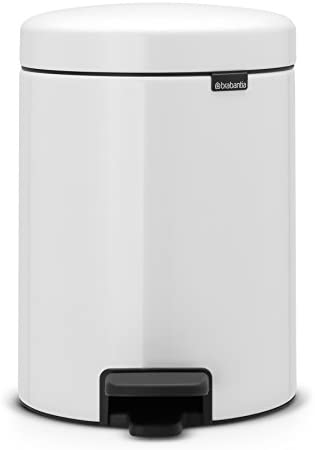 Brabantia Step Trash Can newIcon with Plastic Inner Bucket 1 3 Gal White product image