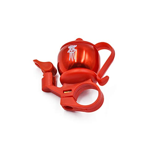 Bicycle Bell Mini Bike Bell Alloy Sound Bell Aluminum Bike Bell Teapot Shaped Bell for Your Beloved Bike Red SuperiorQuality and Creative Durable