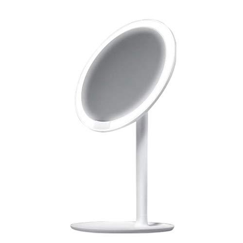 Ownlife HD Make-up Spiegel Tageslicht Spiegel Professionelle Vanity-Verfassungs-Spiegel-Lampe USB-Lade Licht Gesundheit Schönheit Adjustable (Color : White)