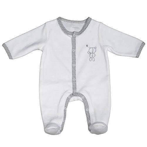 Pyjama bébé blanc ours naissance Céleste - Sauthon