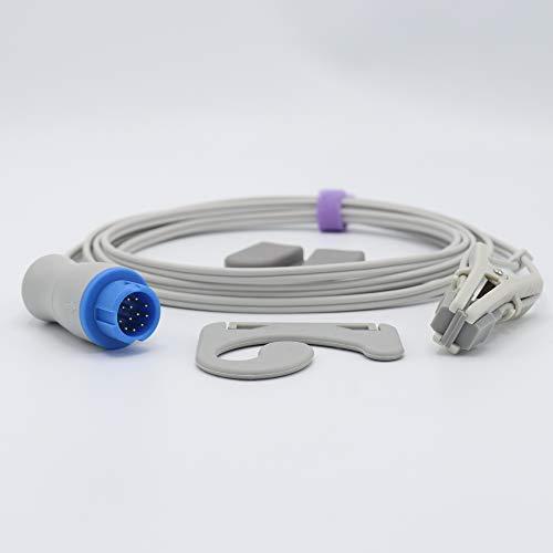 Compatibele Mindray PM6000 met Masimo Technologie Veterinaire Spo2 Sensor Dierlijke Oor Tong Clip 3 m 12 Pins Connector