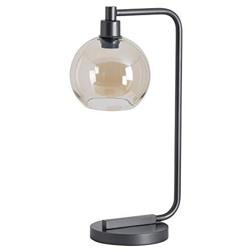 Lámpara de luz de mesa de estudio de escritorio de noche de cristal ahumado estilo industrial