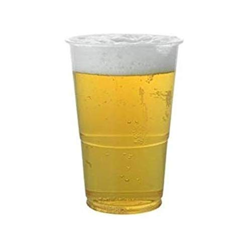 100 vasos de plástico de 500 ml desechables de plástico transparente