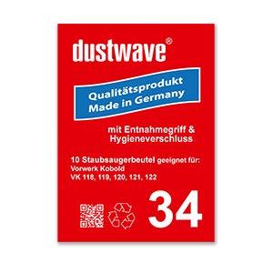 20 Staubbeutel geeignet für Vorwerk - Kobold 118, 119, 120, 121, 122 - dustwave® Staubfilter Staubtüten Staubsaugerbeutel/Made in Germany (USD34-20)