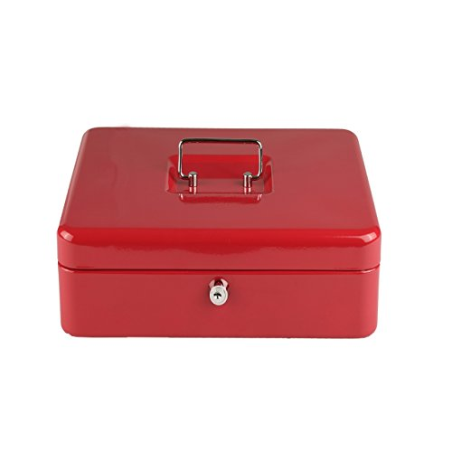 lex geldcassette ca. 20 x 16 x 9 cm. rood