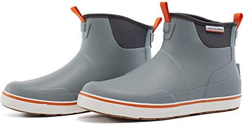 Grundéns Men's Deck-Boss 6' Ankle Boot, Monument Grey - 10 M US