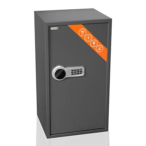 Brihard Business XXL Caja fuerte negocio electrónica LCD 73x40x36 cm - Extra grande caja de seguridad electrónica para oficina - 2 x Estante ajustable