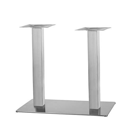 Tischgestell Doppelt Rechteck aus Edelstahl Modell:'Q'
