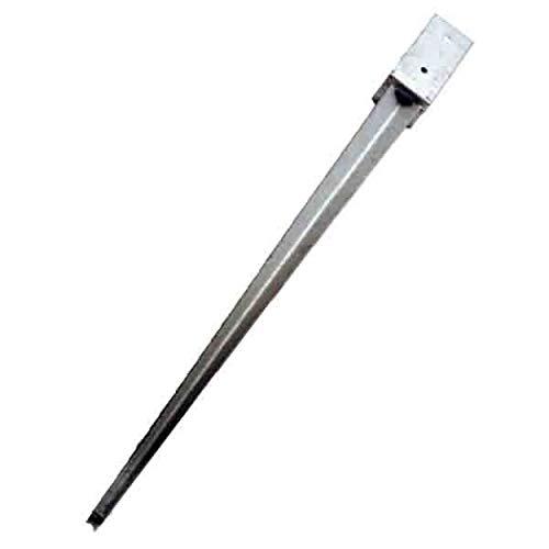 Einschlagbodenhülse 71 x 71 mm und 750 mm Länge feuerverzinkte Bodenhülse INKLUSIVE Schrauben für Kanthölzer 7 x 7 cm