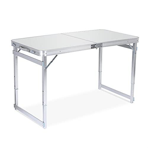 SHUJINGNCE Pliant Table de Camping Portable Hauteur réglable en Aluminium léger avec poignée Portable pour la Plage de Pique-Nique en Plein air (Color : 4)