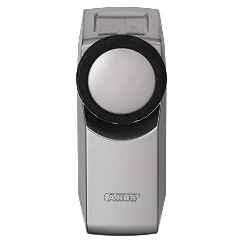ABUS HomeTec Pro Funk-Türschlossantrieb CFA3000 - Elektrisches Türschloss zum schlüssellosen Öffnen auf Knopfdruck oder per Codeeingabe - für bestehende Zylinder - Silber - 10124