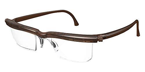【自分で度数調節できるPCメガネ】アドレンズ スクリーンプロテクト ブラウン (ブルーライトカット/UVカット/拡大鏡機能付き)