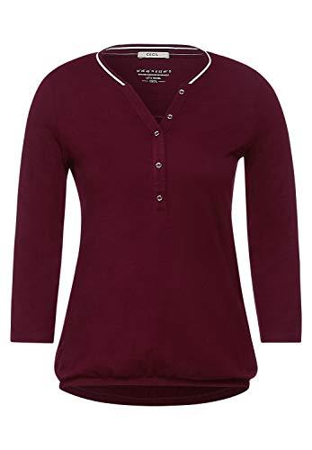 Cecil Damen Shirt mit Flammgarn Burnt Scarlet red L