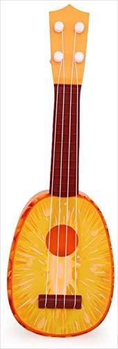 リタプロショップR フルーツギター 子供 ミニ 果物 ウクレレ かわいい おもしろ 玩具 (パイナップル)