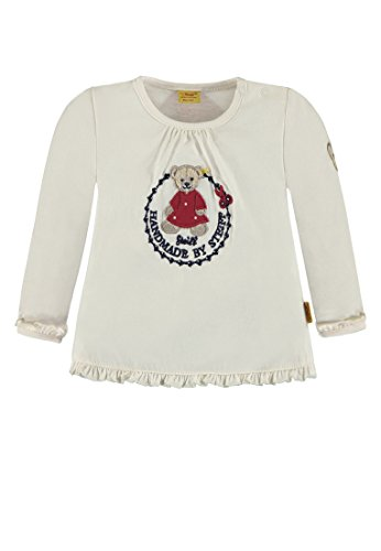 Steiff Baby-Mädchen T-Shirt 1/1 Arm Langarmshirt, Weiß (Whisper White|White 1100), 74