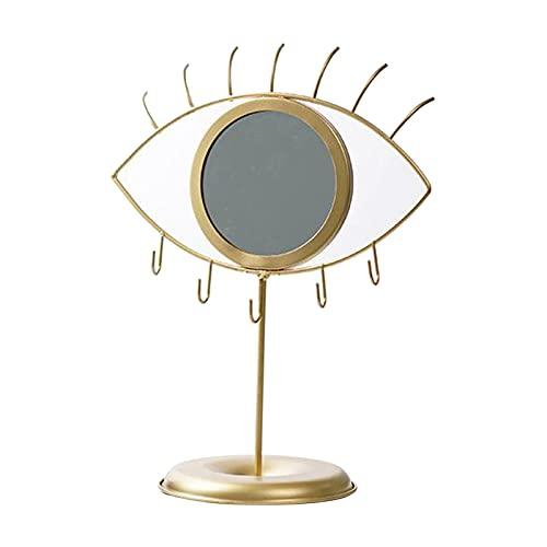 Gaviny Miroir de Maquillage, Miroir de Table avec Porte-Crochet pour Bijoux Miroir de courtoisie décoratif pour Bracelets Colliers bagues Boucles d'oreilles