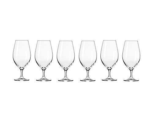 Krosno Harmony Beer Glass 400ML 6pc Gift Boxed