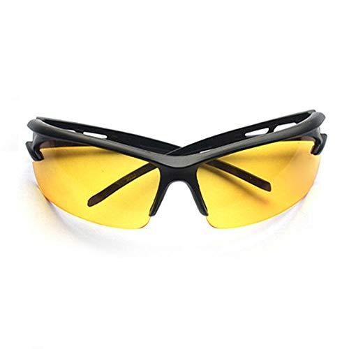 BKHBJ Gafas De Sol Polarizadas contra Los Rayos UV A Prueba De Explosión Al Aire Libre De Los Vidrios De La Bicicleta Unisex Pesca Ciclismo Running Escalada Gafas (Color : Yellow)