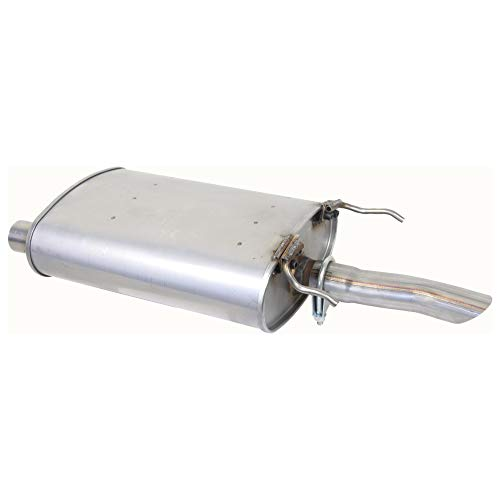 【HuaZo】9501 Chevr-olet Lumina 3,1L,1pc Stainless Steel Muffler Exhaust Compatible with 95-01 Lumina 3.1L 2in. Inlet 2in. Outlet,SS FCC Certifications
