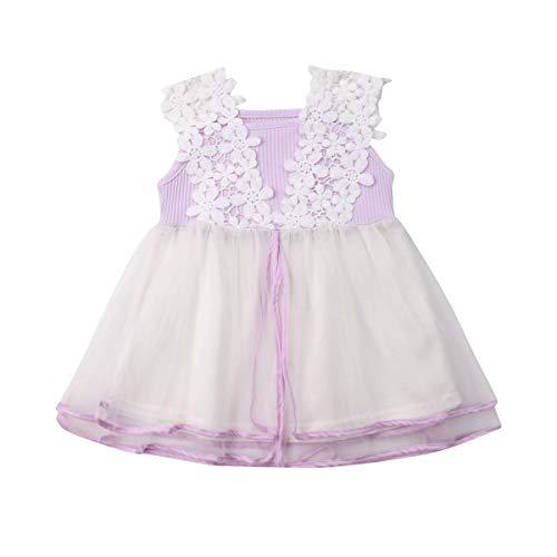 Peuter Baby Meisjes Tutu Tule Bloem Jurk Mouwloos Prinses Feest Bruiloft A-lijn Jurken Rok