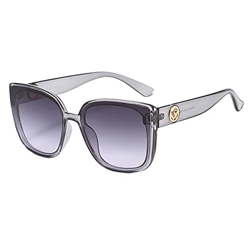 YIFEID Sunglasses Fashion Lady Oversize Square Sunglasses Women Men Glasses Gradient Sun Glasses Female
