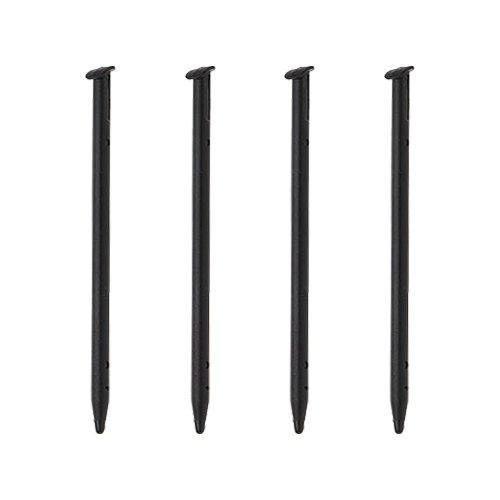 ZedLabz stylus für Nintendo-̀ ̗ neue ̖ ́ - 3DS (neue 2015 Normalgröße) kompatible Ersatz-Touchpen Stifte, 4 Stück, Schwarz