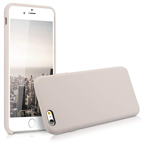kwmobile Hülle kompatibel mit Apple iPhone 6 Plus / 6S Plus - Handyhülle gummiert - Handy Case in Beige