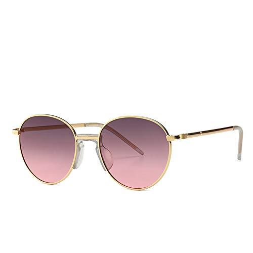 Chinashow Sonnenbrillen für Damen Herren - Vintage-Mode Leichtmetallrahmen Cat Eye Ray Ban Sonnenbrille UV 400 Linse (Gold Pink)