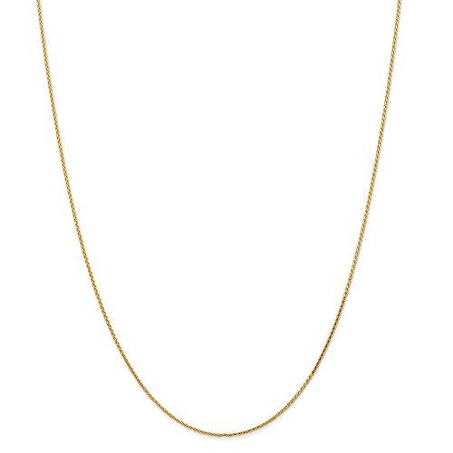 Diamond2deal 14K giallo oro 1.0mm di grano catena collana 50,8cm