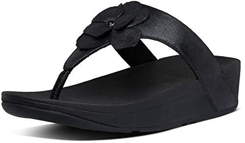 FitFlop Women's Toe-Thongs Flip-Flop, All Black, 7