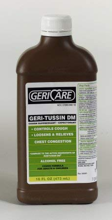 Geri-Care Cold and Cough Relief 100 mg - 10 mg / 5 mL Strength Syrup 16 oz, QRDM-16-GCP - Sold by: Pack of One