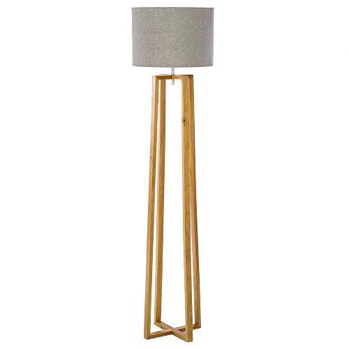 Lámpara de pie nórdica marrón de madera para salón Fantasy - LOLAhome