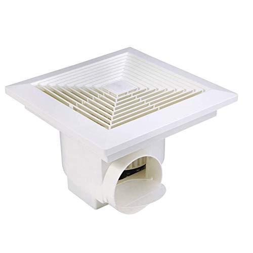 LXZDZ Ventilador de escape para baño, vidrio instalado, extractor de intercambio de aire de alta potencia, cocina, inodoro, ventilador silencioso para humos