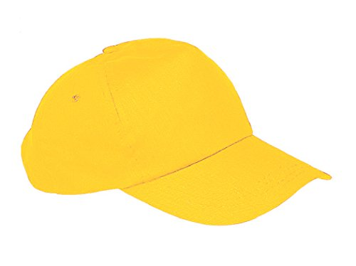 morefaz Unisex Jungen Mädchen Mütze Baseball Cap Hut Kinder Kappe TM (Gelb)